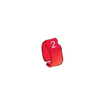 Bague chiffre 2 rouge