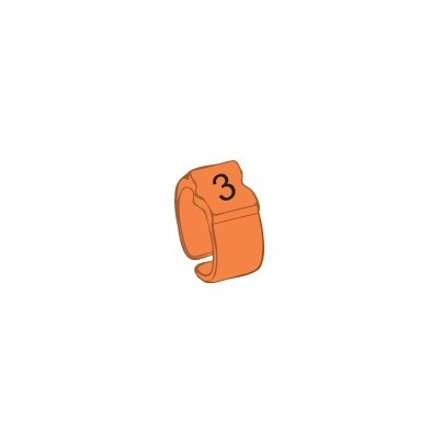 Bague chiffre 3 orange