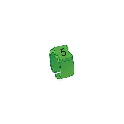 Bague chiffre 5 vert