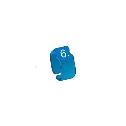 Bague chiffre 6 bleu