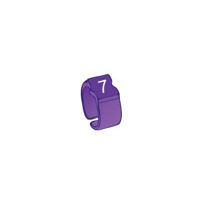 Bague chiffre 7 violet
