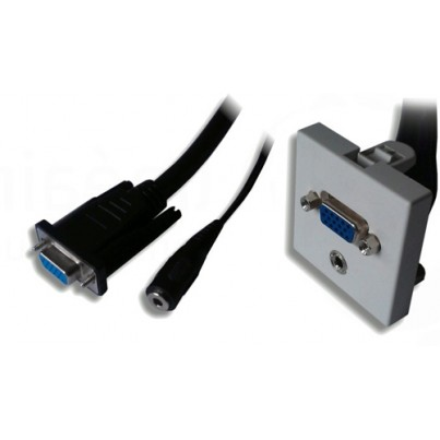 Plastron 45x45 SVGA + audio cordon 20cm