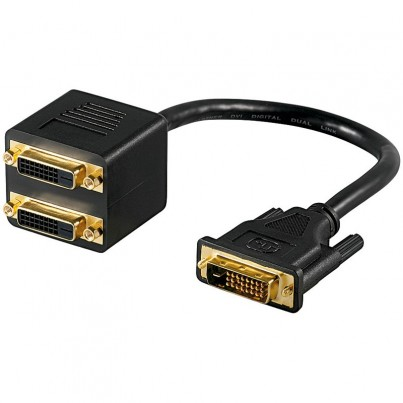 Adaptateur DVI-D M vers 2 DVI-D F