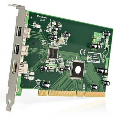 Carte PCI FireWire 2 x 800Mbps/1 x 400Mbps