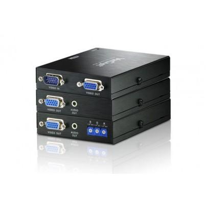 Kit émetteur+ récepteur VGA + audio sur RJ45