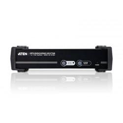 Répartiteur 4 x VGA + audio + RS232 sur RJ45 (450m)