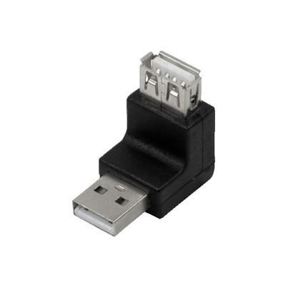 Adaptateur USB A M/F coudé 270°