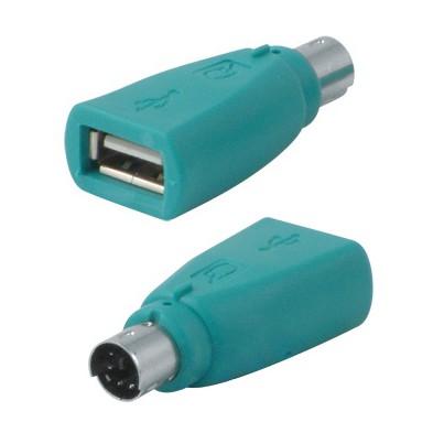 Adaptateur USB femelle à PS2 mâle monobloc