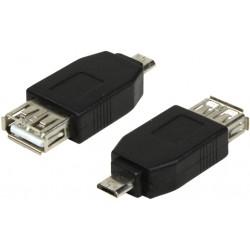 Adaptateur Micro USB mâle vers USB A femelle monobloc
