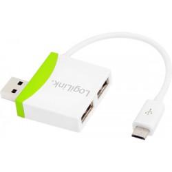 Mini Hub USB 2.0, 2 ports + Micro USB