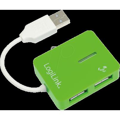 Mini Hub USB 2.0 4 ports Vert