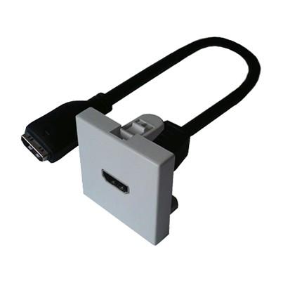 Plastron 45x45 HDMI équipé cordon 20cm