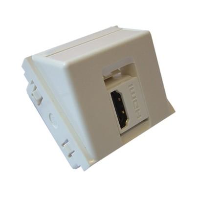 Plastron 45x45 HDMI équipé de traversée