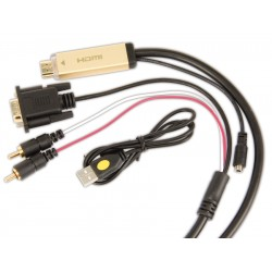 Cordon HDMI à VGA + Audio - 2,00m
