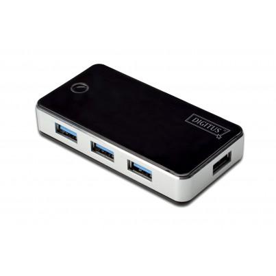 Hub USB 3.0 4 ports Noir