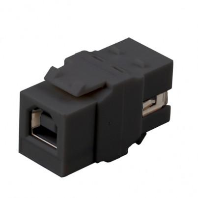 Traversée USB 2.0 AB- Noire