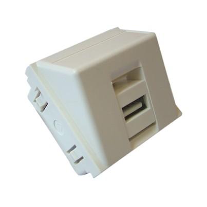 Plastron 45x45 USB équipé traversée