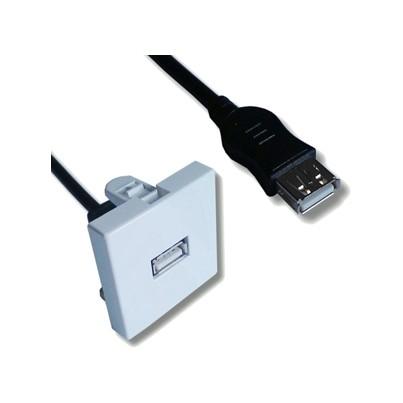 Plastron 45x45 USB équipé traversée +cordon