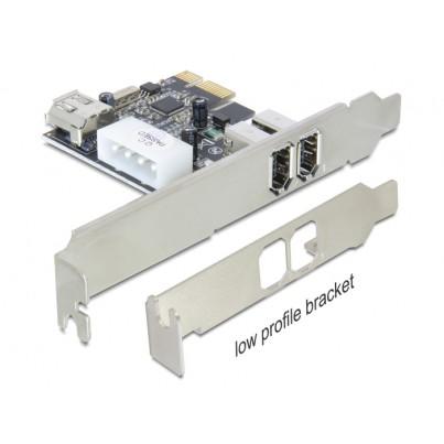 Carte PCI Express Firewire 400 (1394a) 3 ports