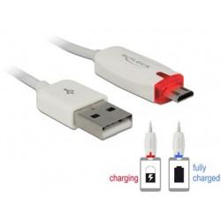 Cordon USB vers Micro B 1m avec témoin de charge