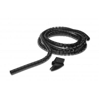 Gaine spiralée noire 5m + Outil