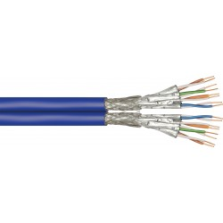 Câble 2x CAT7 600Mhz rigide 500m Violet