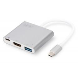 USB 3.0 type C vers HDMI 4K/USB/Type C