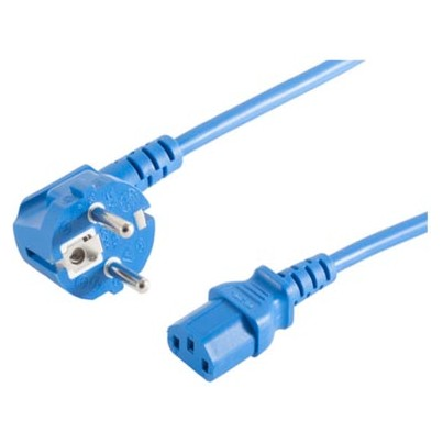 Cordon secteur C13 3m Bleu