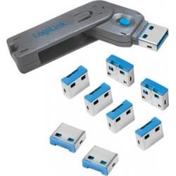 Kit 8 verrouillages USB + 1 clé