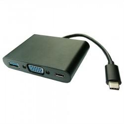 Adaptateur USB-C vers VGA+USB 3.0+C (charge)